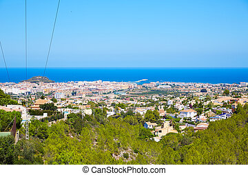 Denia, aldea, alto, vista, De, Montgo, españa,