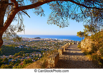 Denia track in Montgo mountain at Alicante Mediterranean...