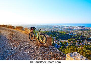 Montaña,  denia,  montgo, pista, bicicleta,  mtb, españa