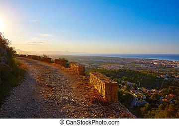 pista, Montaña,  Alicante,  montgo,  denia