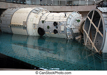 ISS Mockup is Descending - The Russian segment mockup of the...
