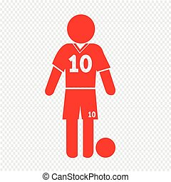 Football Soccer Player Icon Illustration design