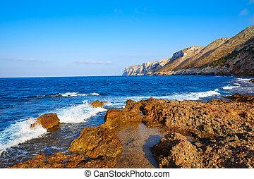 Las Rotas beach in Denia Alicante at Mediterraenan Spain