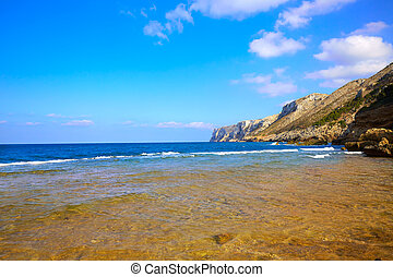 Las Rotas beach in Denia Alicante at Mediterraenan Spain