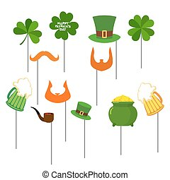 Patricks day Set photo props for photo shoot. Elements for...