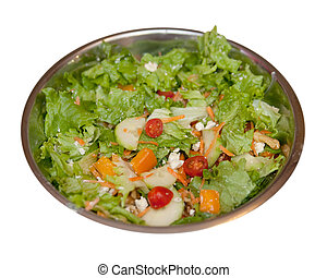 tossed salad - one tossed green garden salad in a large...
