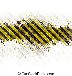 Grungy Hazard Stripes - A hazard stripes background with...