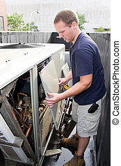 Heating Air Conditioning Technician - An HVAC heating...