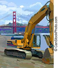 Scratcher - Large equipment near San Francisco