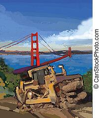 SF and D9 - Construction work near San Francisco.