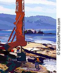Sea Drill - Drilling at the sea.