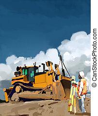 Surveyor on job site.