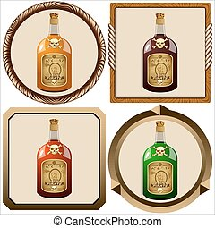 icons with pirate rum