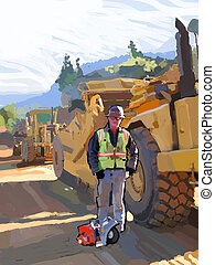 Saw Man - Asphalt worker