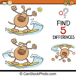 task of differences cartoon - Cartoon Illustration of...