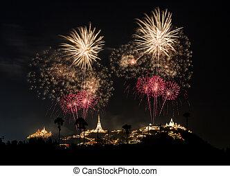 Fireworks Festival at Phra Nakhon Khiri (Khao Wang),...
