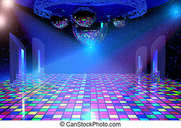 Disco lights background - Disco lights background with...