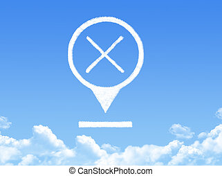 cross location marker cloud shape