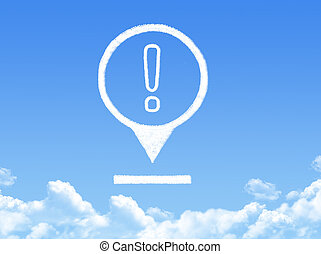 exclamation location marker cloud shape