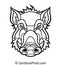 Head of boar mascot design Vector illustration