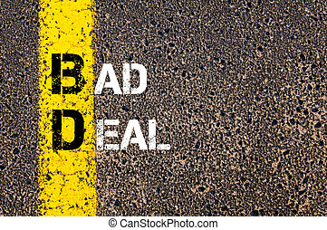 Business Acronym BD Bad Deal - Concept image of Business...