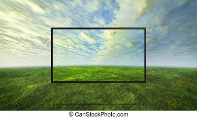 colorful wild concept of tv background