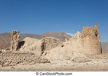 Ruins of an Omani village - Ruins of an old omani village in...
