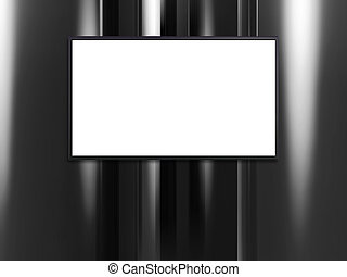 blank wide screen TV with platinum wall white - blank wide...