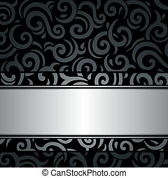 Black & silver vintage background