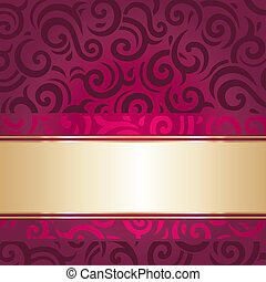 Red and gold luxury vintage invitation design