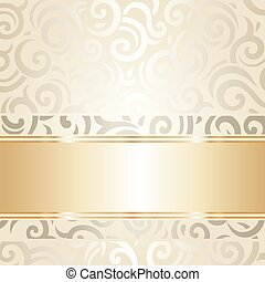 white & gold vintage wallpaper.eps - Wedding vintage...