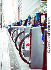 Rent of blue bikes in New York. - Rent of blue bikes in New...