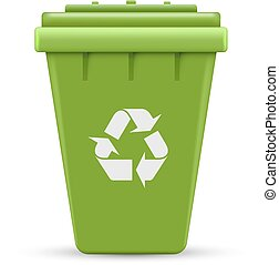 Green recycle outdoor container vector illustration isolated...