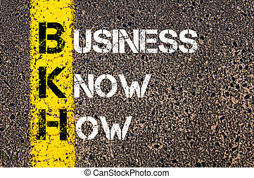 Business Acronym BKH Business Know-How - Concept image of...