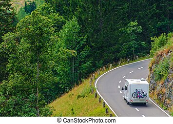 Camper Journey. Small Class B Camper Van with Whole Family...