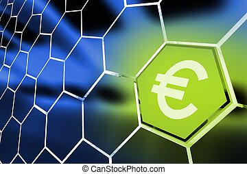 Euro Money Octagon Concept Illustration. Euro Currency.