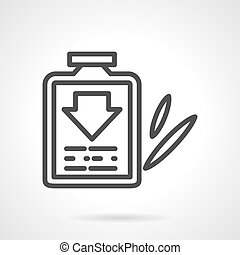 Cough syrup black line design vector icon - Cough syrup...