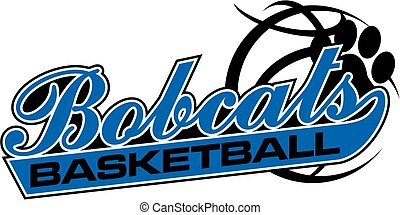 bobcats basketball team design in script for school, college...