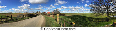 Country road - North Yorkshire - United Kingdom - A country...