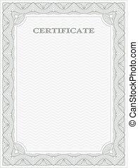 Vertical certificate template