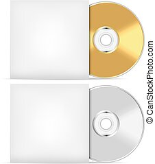 Blank CD or DVD advertising vector template