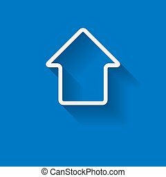 White house shape real estate vector template with copy space.