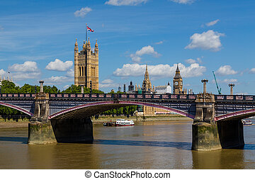Lambeth Bridge and Westminster in the Summer - Lambeth...