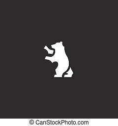 Minimalism is a sign of the trend brand logo Bear