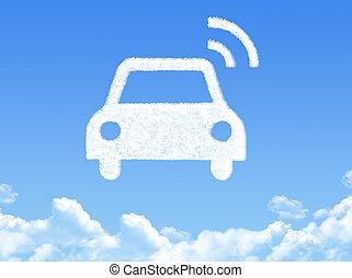 GPS navigation cloud shape