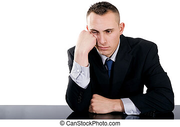 Bored businessman - Stock image of bored businessman over...