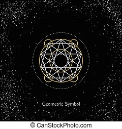 Vector Magic Geometry Sign - Luxury geometry sign Vector...