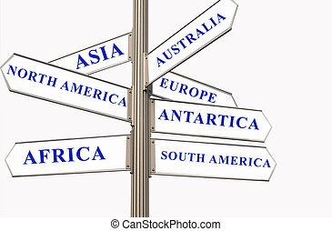 Seven Continents - Street Direction showing the seven...