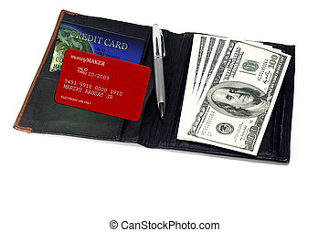 Purchasing Power - Credit Card and Cash - concept for...