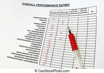 Overall Performance Rating - concept for evaluation and...